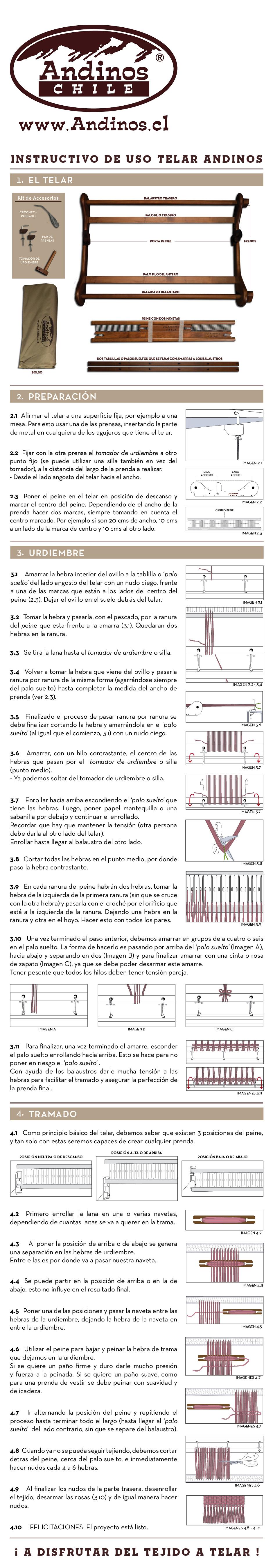 INSTRUCTIVO USO TELAR WEB